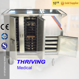 Big Capacity! ! ! Stainless Steel Hospital Heating Food Trolley pictures & photos