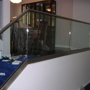 Safety Shopping Mall Stainless Steel Stair Frameless Glass Railing pictures & photos
