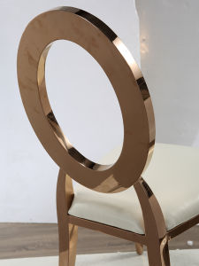 High Grade Home Furniture Round Metal Dining Chair pictures & photos