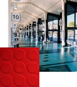 Studded PVC Floor Tiles for Indoor