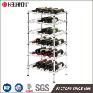 Multi-Purpose Adjustable 6 Tiers Chrome Metal Wine Bottle Storage Rack Shelf pictures & photos