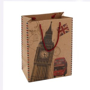 Top Grade Brown Paper Gift Bag Printed Carrier Bags pictures & photos