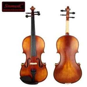 OEM ODM Cheap Price Brown Colour Plywood Body Kids Violin pictures & photos