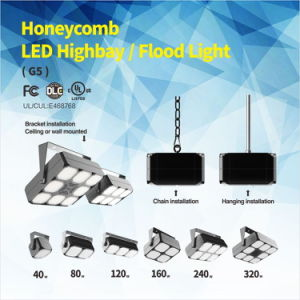 UL Dlc 240W LED Square Highbay with Meanwell Driver, CREE LEDs pictures & photos