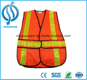 Reflecting Warning Workwear Woven Fabric Safety Vests pictures & photos