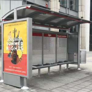Metal Bus Stop Shelter Bus Station Advertising Light Box Display pictures & photos