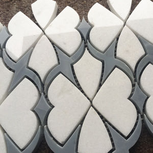 Moon Blue and White Special Design Waterjet Pre Cut Mosaic pictures & photos