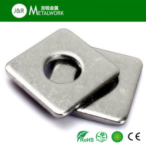 Ss Stainless Steel A2 A4 Thin Square Washer (DIN, ANSI) pictures & photos
