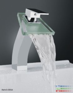 Waterfall Basin Mixer with LED Light/S005A