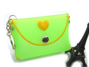 Green Fashion Lady New Design Promotional Silicone Handbag