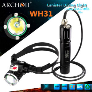 Archon Wh31 Diving Headlamp Max 1000lumens Canister Diving Flashlight pictures & photos