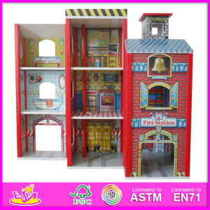 2014 Fashion New Wooden Dollhouse Model Toy, Wholesale DIY Wooden Dollhouse Toy, 3D Colorful Baby Wooden Dollhouse Set Factory W06A049 pictures & photos