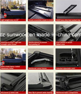 Tri-Fold Soft Vinyl Tonneau Cover pictures & photos