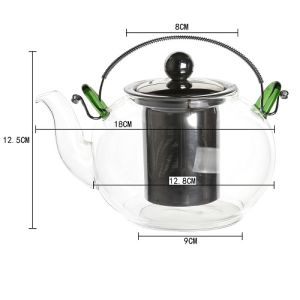 900ml Stainless Steel Heat Resistant Glass Teapot pictures & photos