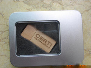 Fashional Style Wooden USB Flash Drive with Metal Box pictures & photos
