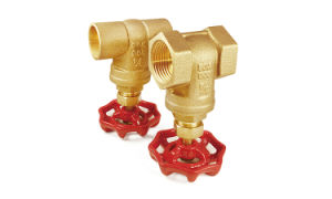 "1/2"" Iron Red Handwheel 125psi Working Pressure Lead Free Material Multi Turn Forging Brass Gate Valves pictures & photos"