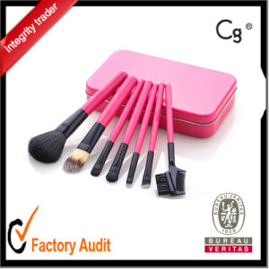 Pink Metal Box Makeup Brush OEM and Logo Print pictures & photos