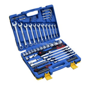 "Hot Selling-76PCS Socket Wrench Set (1/4""&1/2"") - (FY1076B1) pictures & photos"
