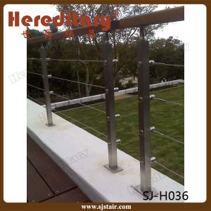 Customed Design Cable Railing 304 Stainless Steel Balcony Baluster (SJ-S063) pictures & photos