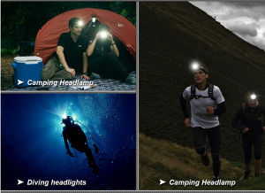 Popular Model LED Headlamps with Camouflage Color Unique Design