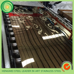 Wholesale Price Decoration Etch 201 316 304 Stainless Steel Sheet for Escalator Elevator Fabrication pictures & photos
