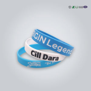 Personalized Silicone Bracelet/Silicone Rubber Wristband pictures & photos