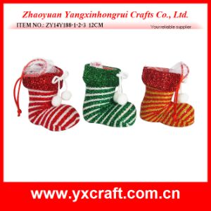 Christmas Decoration (ZY14Y188-1-2-3) Christmas Holiday Gift Shoe Factory pictures & photos