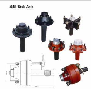 Manufacturer of Semi Trailer Stub Axle Half Axle pictures & photos
