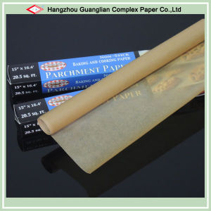 40GSM Oven Safe Brown Baking Paper in Roll pictures & photos