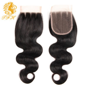 Peruvian Virgin Hair with Closure 4PCS Lot 3 Bundles With1 Lace Closure Unprocessed Human Hair Peruvian Body Wave with Closure pictures & photos