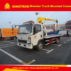 Sinotruk 4X2 Light Duty Wrecker Truck Mounted Crane pictures & photos