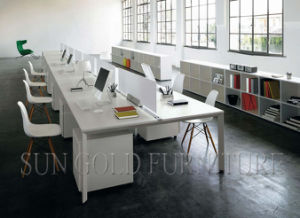 Open Space Desking System/Office Workstation Table with Screen Partition (SZ-WS052) pictures & photos