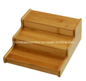 Bamboo 3-Tier Corner Shelf Organizers Storage Hb501 pictures & photos