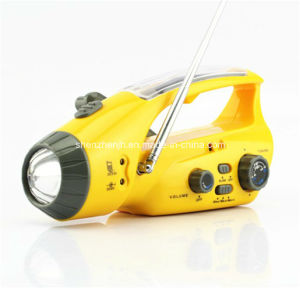 Solar Gifts Solar Radio Solar Flashlight Torch with LED Light for Emergency Use (JH-PR047)