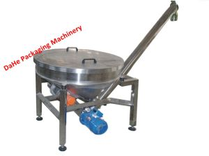 Inclined Stainless Steel Powder Screw Conveyor with Round Hopper pictures & photos