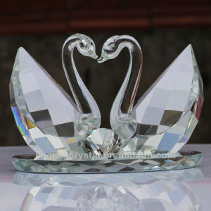 Crystal Double Swan for Wedding Gifts or Home Decoration pictures & photos