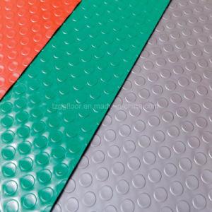 Commercial Anti-Slip PVC Coin Pattern Roll Type Flooring pictures & photos