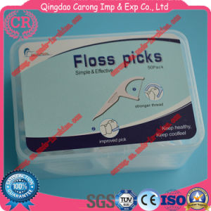 Various Plastic Dental Floss Pick Toothpicks for Cleaning pictures & photos