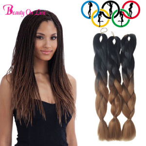 3X Jumbo Twist Braid Ombre Xpression Kanekalon PC100g Synthetic Two Tone High Temperature Fiber Jumbo Braid pictures & photos