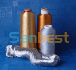 Metallic Silver Embroidery Thread with Rayon Core Yarn pictures & photos