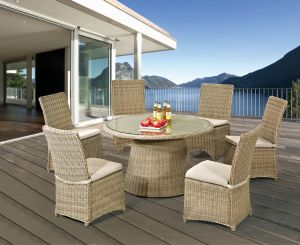 Rattan Furniture Outdoor Dining Round Table and Chair Set pictures & photos