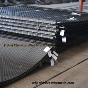 China Factory Red Color Crimped Wire Mesh pictures & photos