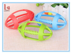 New Product Wholesale Baby Teething Toys Rugby Shape Silicone Baby Teether pictures & photos