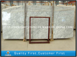 Polished Bianco Carrara White Marble Bathroom Tiles Vanity Tops pictures & photos