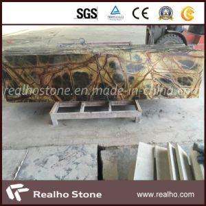 Natural Stone Rainforest Dark Green Marble Countertop for Kitchens pictures & photos