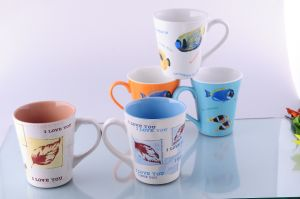 Ceramic V Shaped Mug (CZJM1267) pictures & photos