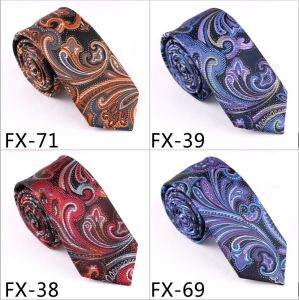 New Design Fashionable Novelty Paisley Necktie (Fx-71) pictures & photos