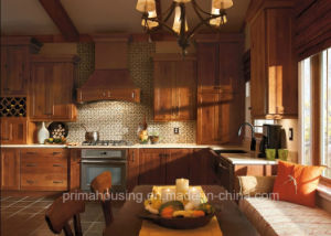 Europe Tranditional Soild Wood Kitchen Cabinet pictures & photos