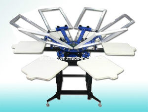 Manual T Shirt Screen Printer, Carousel Screen Printing Machine pictures & photos