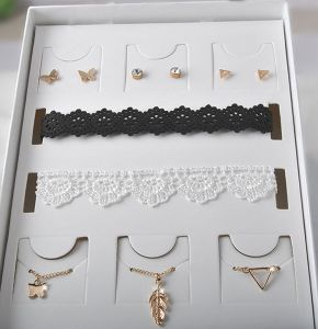 Set of Little Creature Earring and Multi Choker Necklace pictures & photos
